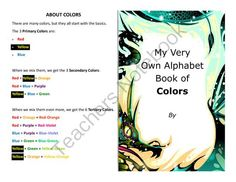 Make your own booklet on the ABCs of colors over 100 color words art and vocab from Velerion Damarke on TeachersNotebook.com -  (27 pages)  - Want to make a booklet to help your students study their color words? This quick booklet is fun and educational to make.  Included in this file is: 10 different color front/backs, for variety.  The back explains the primary, secondary, and tertiary colors