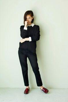 Kiko Mizuhara #allblackoutfit #ootd #style