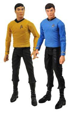 Sulu and McCoy Star Trek dolls
