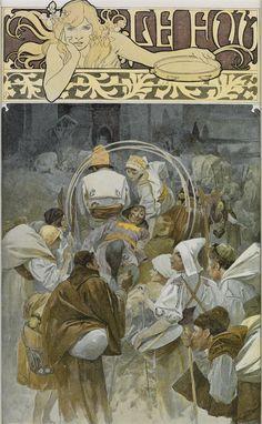 ALPHONSE MUCHA (1860-1939) LE FOU / [FIGARO ILLUSTRÉ.] Title page. 1897.