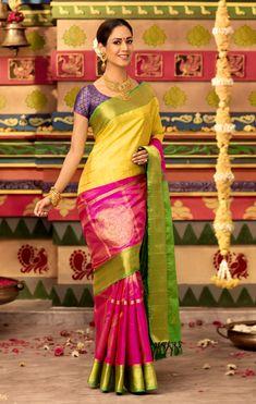 2ccbed0bdcd35d Vivaha Presents Goddess Collection Bridal Silk Sarees Bridal Silk Saree
