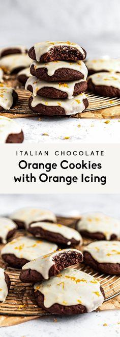 Frozen Cookie Dough, Frozen Cookies, Baking Recipes, Cookie Recipes, Dessert Recipes, Cookie Ideas, Salad Recipes, Chocolate Orange Cookies, Italian Chocolate