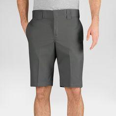 Dickies Men's Slim Fit Flex Twill 11 Short- Gravel Gray 33