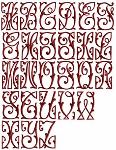 Art Nouveau Font - square