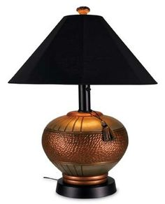 copper brass and silver living rooms   Phoenix Table Lamp with Copper/Silver Base