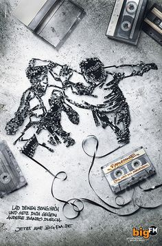 Kung Fu Cassette    Did some work last year for Jung v. Matt am Neckar (German ad agency)... this was a promo for a radio station. I sculpted the cassette into designs by their art director and then sent the tape sculptures to the agency where they were photographed and made uber nice-looking. 2009