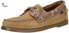 Sebago Spinnaker Hommes US 9.5 Beige Chaussure de Bateau - Chaussures sebago (*Partner-Link)