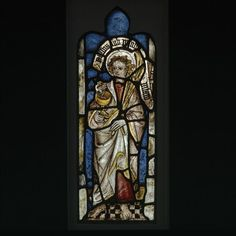 Saint John the Evangalist  Object: Panel  Place of origin: England, Great Britain (made)  Date: 15th century (made)  Artist/Maker: Unknown (production)  Materials and Techniques: Stained glass