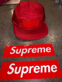 ae53ec658762a Supreme Patent Leather Patch Camp Hat - Red - FW18 - SOLD OUT!!Brand