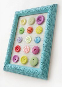 Colorful Button Collage from @Amy: Mod Podge Rocks - A kids craft that parents will love, too.