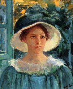 Mary Cassatt, Self Portrait, American painter. Among my favorite impressionist era artists...