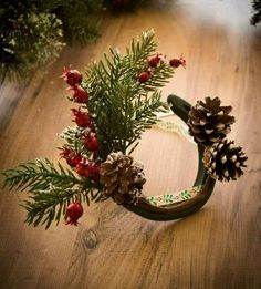 Rustic Christmas Crafts, Western Christmas, Christmas Horses, Homemade Christmas Gifts, Christmas Projects, Christmas Wreaths, Christmas Decorations, Christmas Ornaments, Holiday Decor