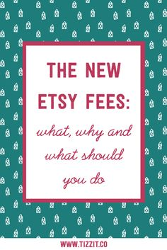 A few days ago, Etsy announced their fee structure was changing and the internet went BOOM. In this episode, we're going to talk about what the new fees breakdown is, why it's happening and what you should do about it. Let's get into it. You can watch now or PIN to watch later. #etsyseller #etsyshop #handmadeseller