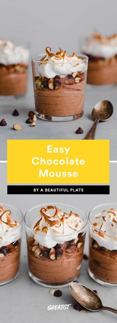 5. Easy Chocolate Mousse #greatist https://greatist.com/eat/chocolate-mousse-recipes