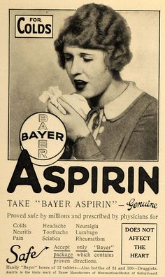 1927 Ad Bayer Co. Genuine Bayer Aspirin Pain Reliever - ORIGINAL MCC2