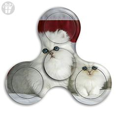DIMAN New Style Cool Cat Kitty Pet Finger Spinner Stress Reducer Hand Toy Tri Fidget Hand Spinner Finger Toy For Kids And Adult - Fidget spinner (*Amazon Partner-Link)