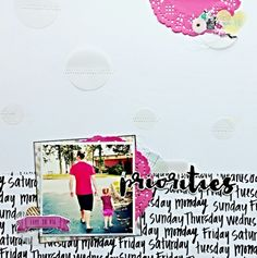 Layout made with dear lizzys documentary collection scrapping my stash