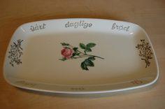 Retro brødfat fra Figgjo. Stavanger, Norway, Dishes, Retro, Table, Vintage, Design, Tablewares