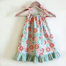 Springy pillowcase dress