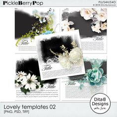 DitaB Designs:    Lovely templates 02 and 03   2x5 arranged templ...