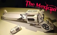 The Mexican - Decorative Revolver Paper Toy - by Matthijs C. Kamstra via House Of St. Hellvis - == - Here is a cool decorative revolver paper toy, made by designer Matthijs C. Kamstra and originally posted at House Of St. Hellvis website.