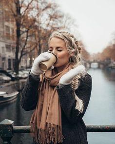 Winter Blonde Braid Hairstyle No-Heat Travel Hairstyles, Braided Hairstyles, Blonde Hair Inspiration, Style Inspiration, Winter Blonde, Blonde Braids, Winter Hats, Winter Jackets, Gorgeous Hair