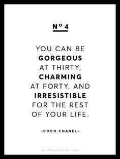 13 Rare Coco Chanel Quotes via /WhoWhatWear/