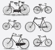 BICYCLES Free Vintage Vector Printable | https://www.freevintagevectors.co/single-post/bicycles