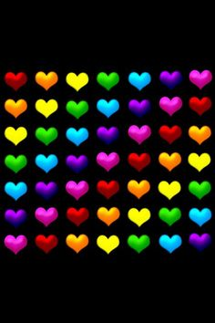 Colorful Pictures and Images Rainbow hearts