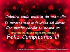 Tarjetas de Cumpleaños : 277-Tarjetas de cumpleaños con frases lindas de felicitacionesTarjetas de Cumpleaños
