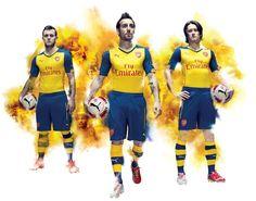 Arsenal 2014-15 Puma Away  #arsenal #podolski  Hat Poldi deshalb gewechselt? Die Trikots sind ja mal total hässlich.