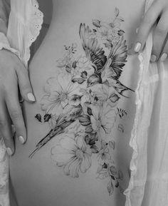 🌸🌿 thanks for making the trip from the US friend 🙏🏼✈️ Pretty Tattoos, Sexy Tattoos, Cute Tattoos, Unique Tattoos, Beautiful Tattoos, Body Art Tattoos, Tatoos, Tattoos Skull, Hip Thigh Tattoos