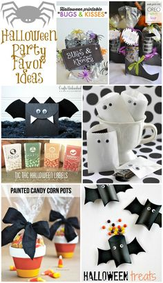 10 Halloween Party Favor Ideas  By Cheryl ...you'll love this collection of Halloween party favors. There are so many clever ideas here both for treats and fun ways to package them. My son isn't at an age yet where he really understands Halloween but I may make him a few of these fun favors to hand out to his little friends.