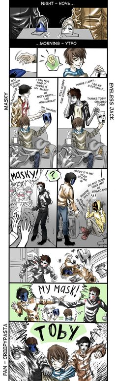 Masky you scared me....Jack scares me...ugh Toby....@ticci_toby_tick @MaskedProxy