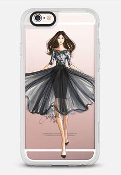 Posh (Fashion Illustration Transparent Phone Case) iPhone 6s case by H. Nichols Illustration | Casetify