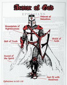 Armor Of God Tattoo, God Tattoos, Warrior Tattoos, Belt Of Truth, Sword Of The Spirit, Crusader Knight, Christian Warrior, Angel Warrior, Warrior Quotes