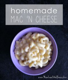 My favorite homemade mac 'n cheese recipe.  Faster to make than the boxed stuff and a million times more delicious!