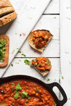 AMAZING Vegan Chickpea SHAKSHUKA! 1 Pot, 30 minutes, so much plantprotein! #vegan #glutenfree. Ingredients: white onion, red bell pepper, garlic, tomato puree or diced tomatoes, tomato paste, coconut sugar, sea salt, paprika, cumin, chili powder, cinnamon,