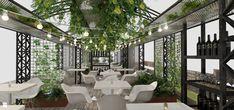 Wolnostojący ogródek dla restaurazji włoskiej - zdjęcie od KW Studio - Ogród - Styl Industrialny - KW Studio