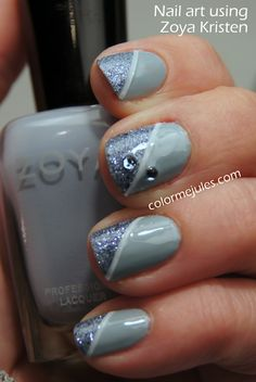 Nail art with Zoya Kristen - www.colormejules.com Striping tape?