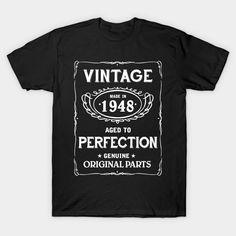 Vintage Age Birthday Shirt 1948 T-Shirt  #image #shirt #gift #idea #hot #bestseller