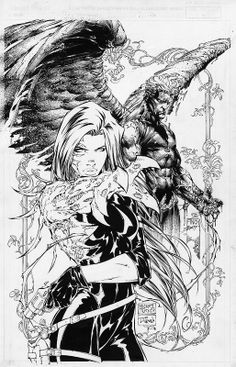 Witchblade/Ascension Wizard cover | Michael Turner