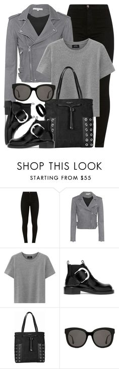 """""""Ten Nineteen"""" by monmondefou ❤ liked on Polyvore featuring IRO, Maison Margiela, Tory Burch, Gentle Monster, West Coast Jewelry and black"""