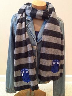 Doctor Who scarf Tardis police box by OffTheHookbyLora on Etsy, $18.99