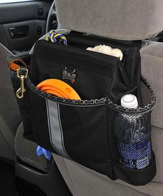 car organizer for a dog -- I don't have a dog but this looks like it would work great for trash and as an extra water bottle holder