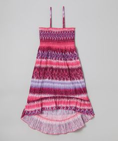 Loving this Purple & Pink Hi-Low Convertible Dress - Girls on #zulily! #zulilyfinds