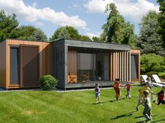 Small Tiny House, Tiny House Cabin, Small House Design, Container Home Designs, Container Architecture, Sustainable Architecture, Bungalow Haus Design, Casas Containers, Prefabricated Houses
