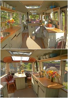 amazing tiny house plan design that will inspire you 16 Bus Living, Tiny House Living, Living Spaces, Caravan Living, Bus Remodel, School Bus Tiny House, Converted Bus, Kombi Home, Rv Homes