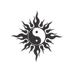 Fake tattoo of a tribal yin yang symbol. Yin Yang Tattoos, Yin Yang Tattoo Meaning, Tribal Tattoos, Sun Tattoos, Fake Tattoos, Dragon Yin Yang Tattoo, Couple Tattoos, Small Tattoos, Arte Yin Yang