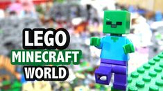 Massive LEGO Minecraft World (2019 Update) Lego Minecraft, Lego Shirts, Lego Videos, Lego Castle, Lego Projects, World, The World, Earth